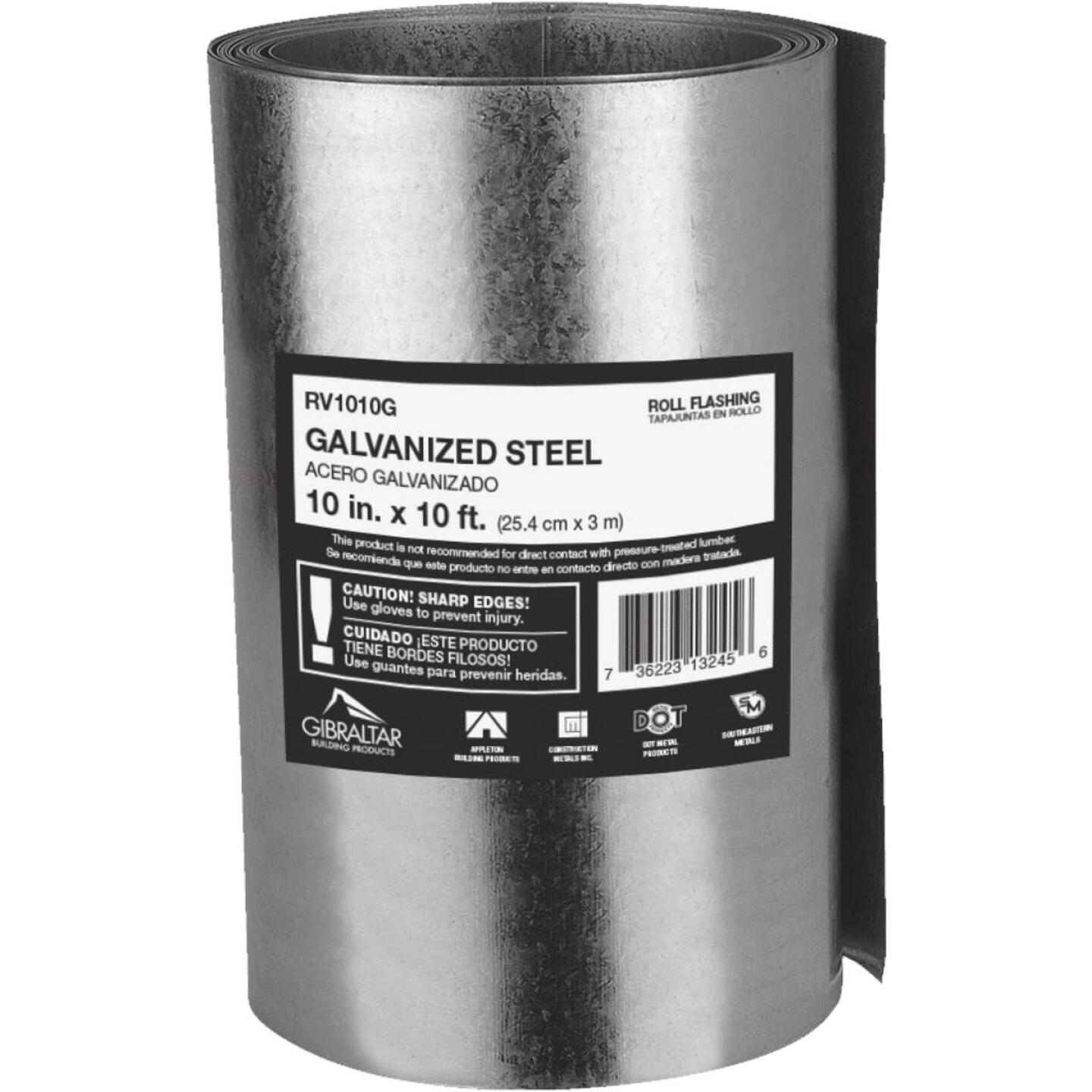 NorWesco 10 In. x 10 Ft. Mill Galvanized Roll Valley Flashing Image 1