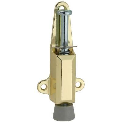 National Brass Door Stop with Lock
