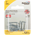 National 2030 Series #114 Square Bend Screw Hook Shoulder Hook (12 Count) Image 2
