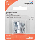 National 1 In. Zinc Tight-Pin Narrow Hinge (2-Pack) Image 2