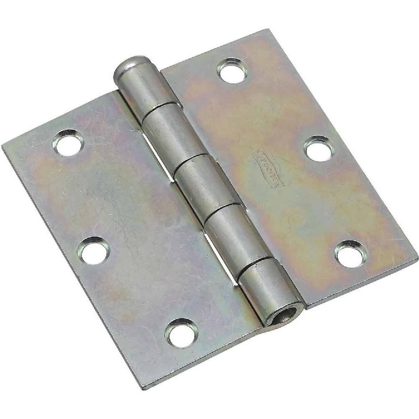 National 3-1/2 In. Square Zinc Plated Steel Broad Door Hinge (2-Pack) Image 1