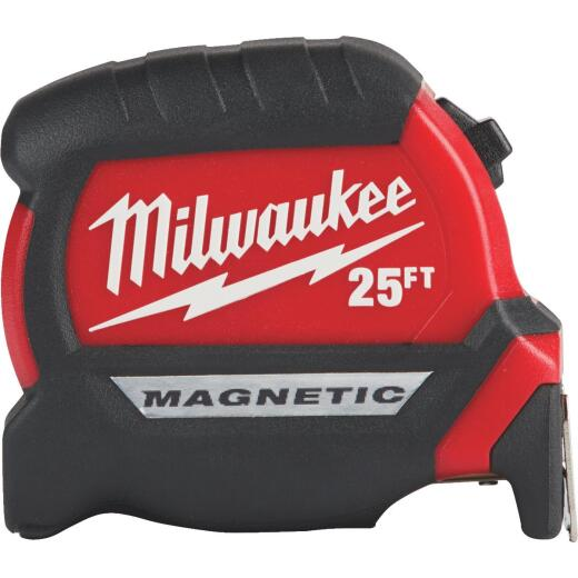 Milwaukee 25 Ft. Compact Wide Blade Magnetic Tape Measure