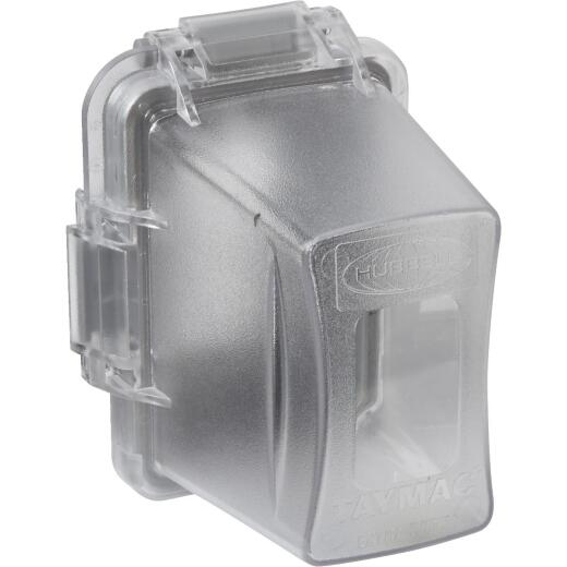 TayMac Extra Duty Single Gang Vertical/Horizontal Mount Polycarbonate Clear Deep In-Use Outdoor Outlet Cover