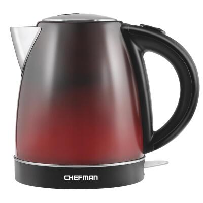 Chefman 1.7 Liter Stainless Steel Color Changing Electric Kettle