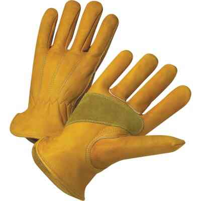 West Chester Protective Gear Men's Large Grain Cowhide Leather Work Glove
