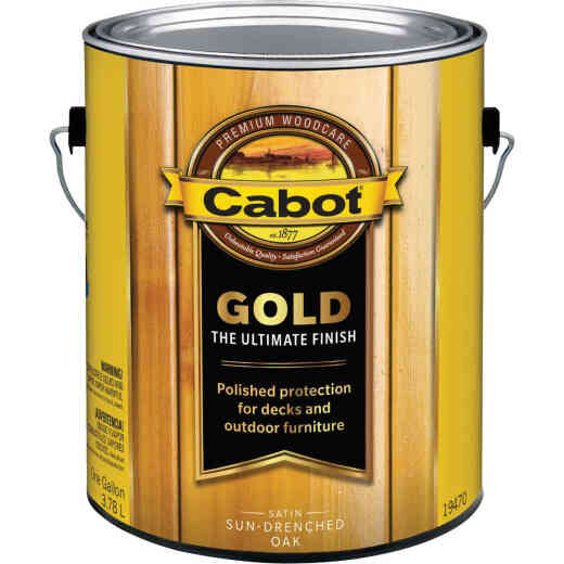Cabot Gold Low VOC Exterior Stain, Sun-Drenched Oak, 1 Gal.