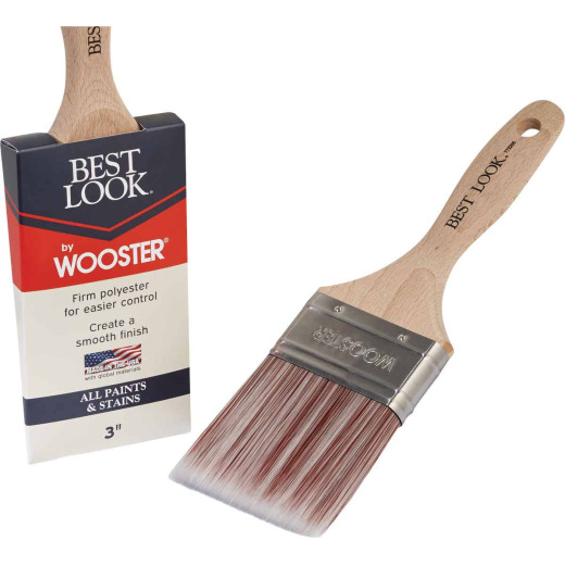 Best Look By Wooster 3 In. Flat Paint Brush