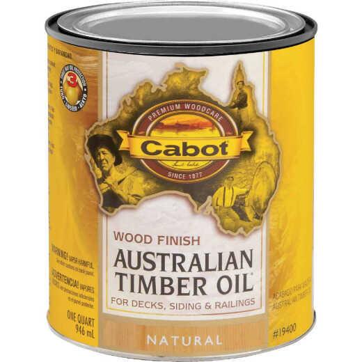 Cabot Australian Timber Oil Water Reducible Translucent Exterior Oil Finish, Natural, 1 Qt.