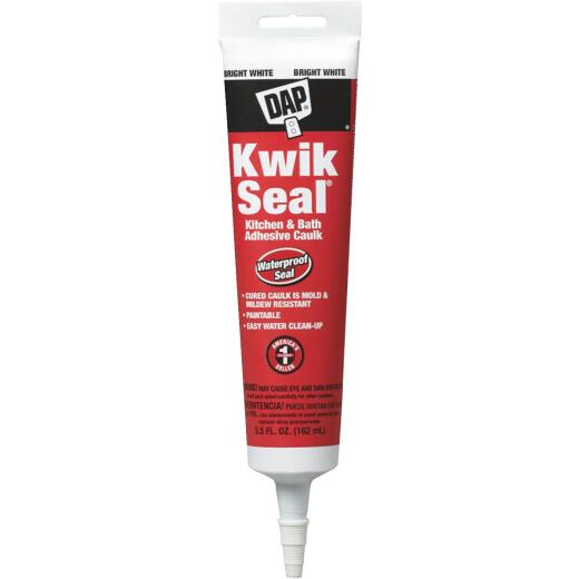 DAP Kwik Seal 5.5 Oz. White Kitchen & Bath Adhesive Caulk