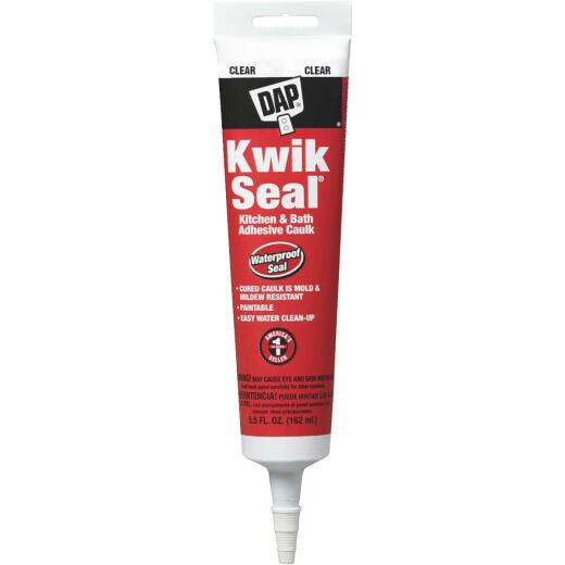 DAP Kwik Seal 5.5 Oz. Clear Kitchen & Bath Adhesive Caulk