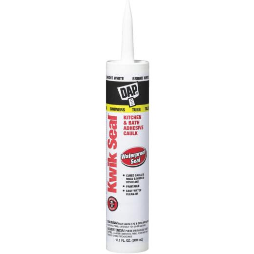 DAP Kwik Seal 10.1 Oz. White Kitchen & Bath Adhesive Caulk