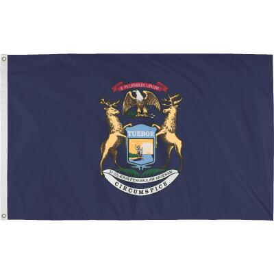 Valley Forge 3 Ft. x 5 Ft. Nylon Michigan State Flag